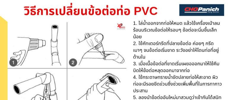 วิธีการเปลี่ยนข้อต่อท่อPVC